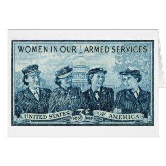 1952 mujeres en sello de las fuerzas armadas de lo tarjeta pequeña