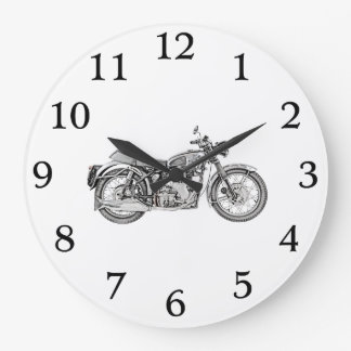 1952 Velocette Venom Motorcycle Large Clock