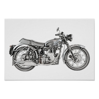 1952 Velocette Venom Motorcycle Poster