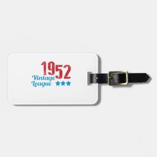 1952 vintage leaque luggage tag
