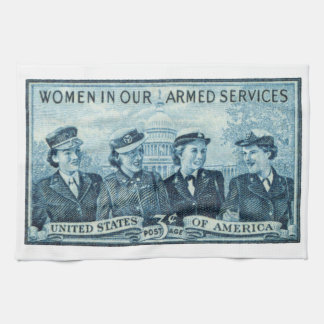 1952 Women in US Armed Services Kitchen Towels