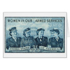 1952 Women in US Armed Services Stamp Card