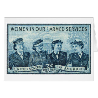 1952 Women in US Armed Services Stamp Cards