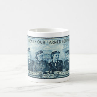 1952 Women in US Armed Services Stamp Coffee Mug