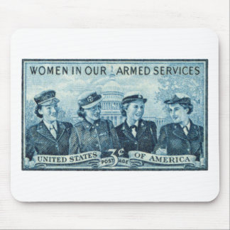 1952 Women in US Armed Services Stamp Mouse Pad