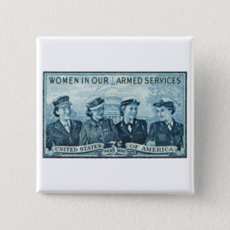 1952 Women in US Armed Services Stamp Pinback Button