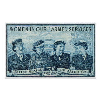 1952 Women in US Armed Services Stamp Poster