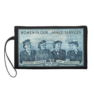 1952 Women in US Armed Services Stamp Wristlet Purse