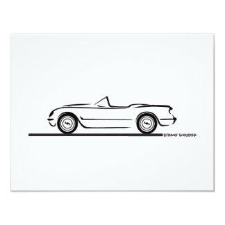 1953 1954 1955 Corvette 4.25x5.5 Paper Invitation Card