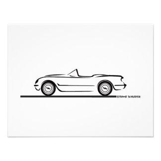 1953 1954 1955 Corvette Personalized Invitation