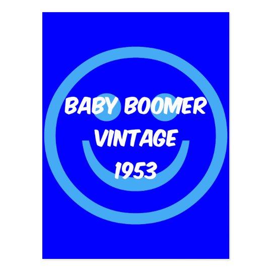1953 baby boomer postcard