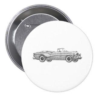 1953 Buick Skylark Convertible Coupe Pinback Button