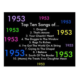 1953 canciones postales