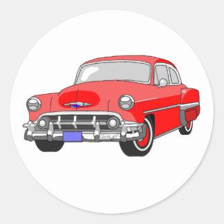 1953 Chevrolet Bel Air Classic Round Sticker