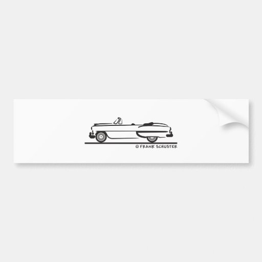 1953 Chevrolet Convertible Bel Air Bumper Sticker