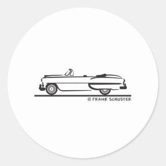 1953 Chevrolet Convertible Bel Air Classic Round Sticker