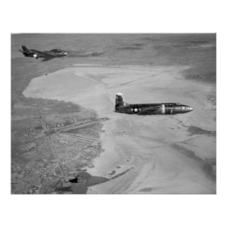 1953 la Bell Aircraft Corporation X-1A 48-1384 Póster