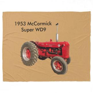 1953 McCormick Super WD9  Tractor Fleece Blanket