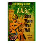 1953 pulp novel cover Some Women Won't Wait Card
