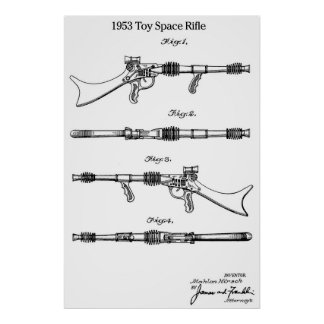 1953 Toy Space Rifle Poster