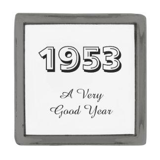 1953 un Pin muy bueno de la solapa del año Insignia Metalizada