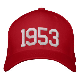 1953 Year Embroidered Hats