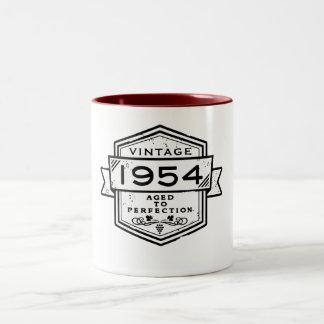1954 Aged To Perfection Two-Tone Coffee Mug