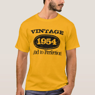 1954 Aged to perfection   Vintage Birthday t shirt