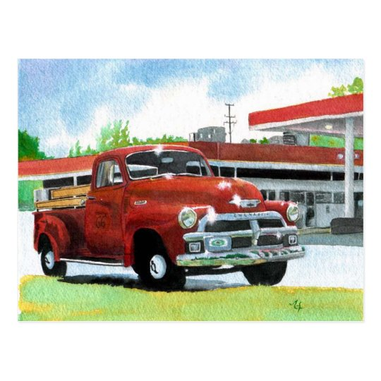 1954 Antique Truck Postcard