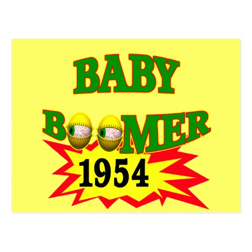 1954 Baby Boomer Postcard