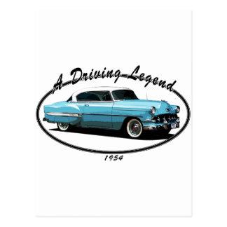 1954 Bel Air Blue Postcard