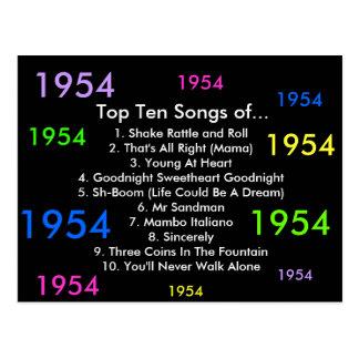 1954 canciones postales