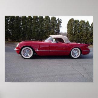 1954 Chevy Corvette C1 Convertible Poster