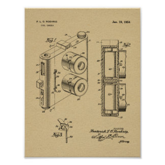 1954 Dual Camera Patent Art Drawing Print