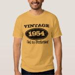 1954 envejecido a la camiseta del cumpleaños del playeras