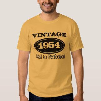 1954 envejecido a la camiseta del cumpleaños del polera