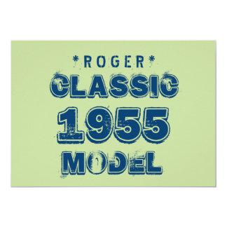 1955 60th Birthday CLASSIC MODEL Green J60 Card