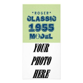 1955 60th Birthday CLASSIC MODEL Green J60 Photo Card