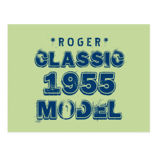 1955 60th Birthday CLASSIC MODEL Green J60 Postcard