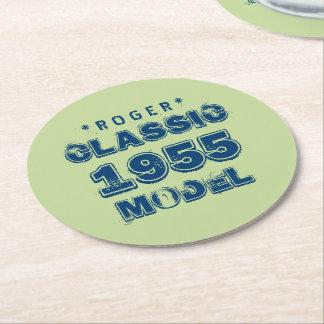 1955 60th Birthday CLASSIC MODEL Green J60 Round Paper Coaster
