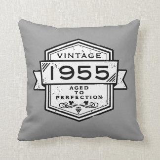 1955 Aged To Perfection Throw Pillows