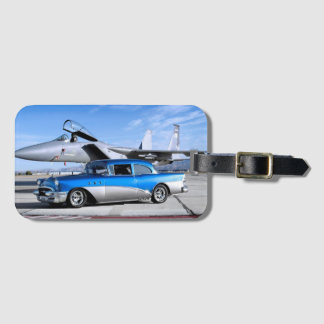 1955 Buick Special Classic Car Fighter Jet Bag Tag