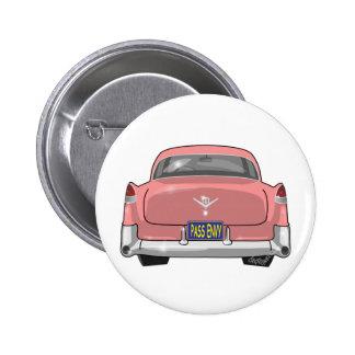 1955 Cadillac rosados Pin Redondo De 2 Pulgadas