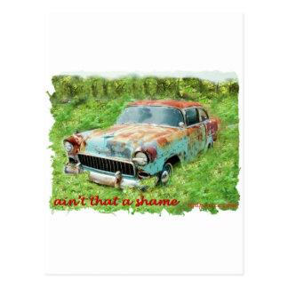 1955 Chevrolet 2Door. Postcard