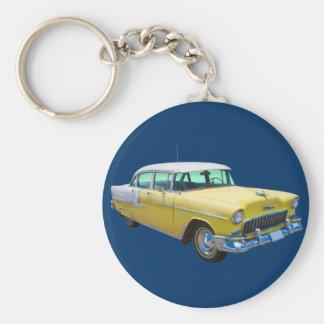 1955 Chevrolet Bel Air Antique Car Basic Round Button Keychain