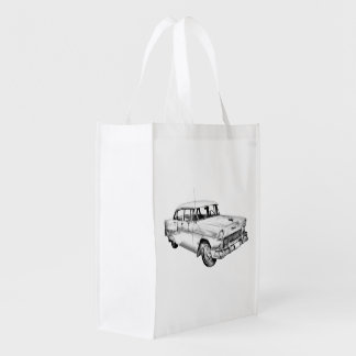 1955 Chevrolet Bel Air Antique Car Illustration Market Totes