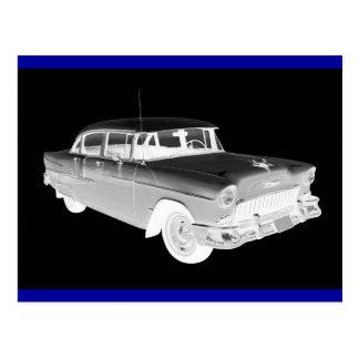 1955 Chevrolet Bel Air Classic Car Art Postcard