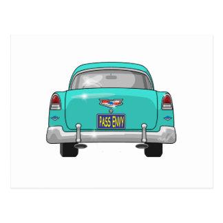 1955 Chevrolet Bel Air Pass Envy Postcard