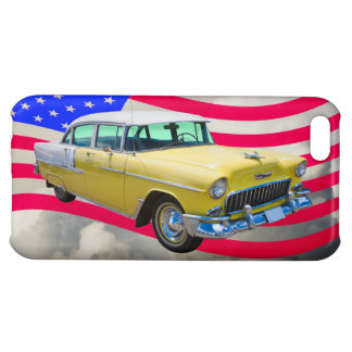 1955 Chevrolet Bel Air With American Flag Cover For iPhone 5C