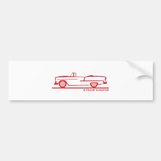 1955 Chevrolet Convertible Bumper Sticker